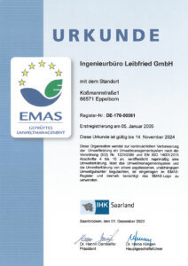 EMAS Urkunde 2020